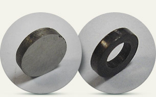 Magnet on  iron basis (trepanation of external and internal surface of a ring)